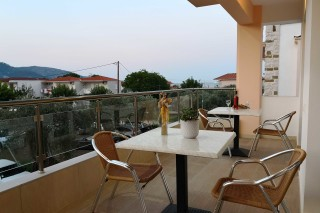superior apartment porto thassos balcony table