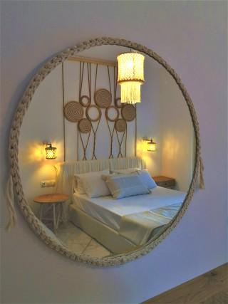 premium studio porto thassos cozy mirror